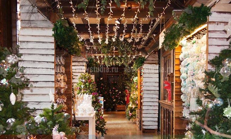 Оформление магазина на праздник